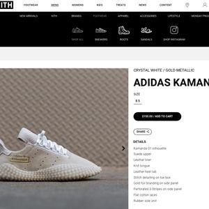 Adidas Originals $150 (KITH) Kamanda 2019 White